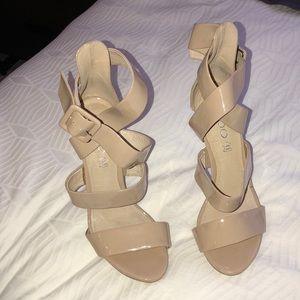 Aldo Beige Strappy Heels